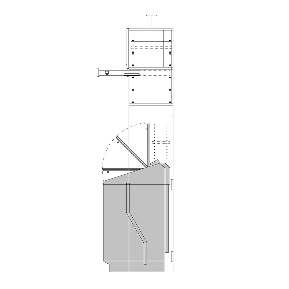 洗濯機が入るスライドバー付きシステムランドリー収納庫 洗濯機ラック 幅80cm 洗濯機上のハーフ棚は奥行が浅く、高さ調節可能。1枚蓋の洗濯機にも折りたたみ蓋の洗濯機にも対応できます。