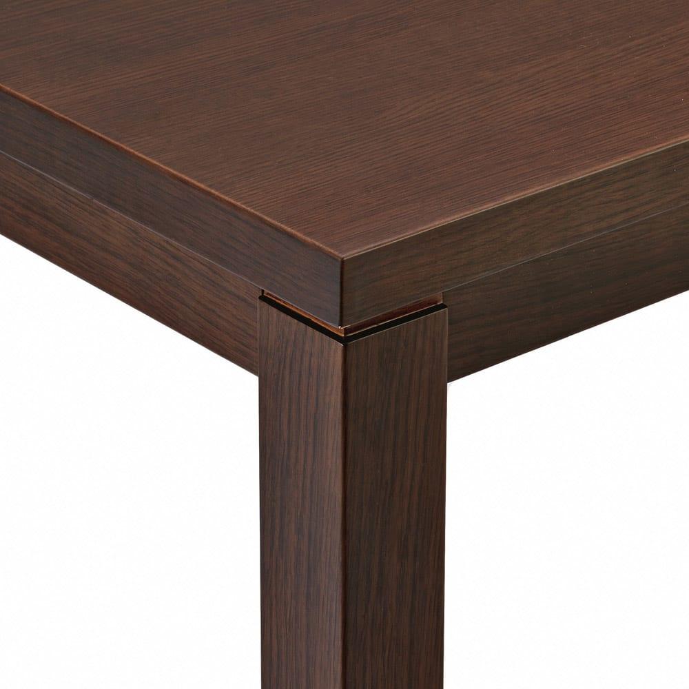 【長方形】幅105cm奥行80cm ダイニングこたつテーブル【高さ調節できます】 ナチュラル感のある仕上げです。