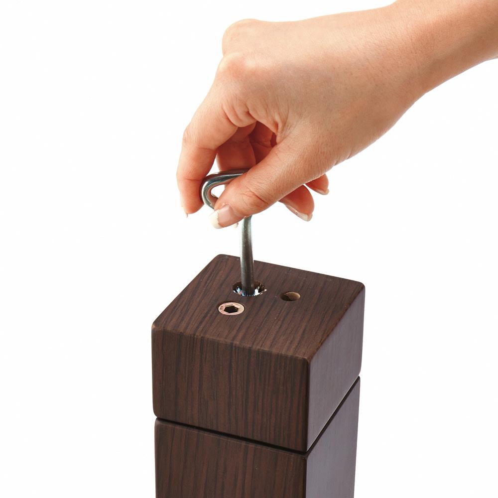 【長方形】幅105cm奥行80cm ダイニングこたつテーブル【高さ調節できます】 継ぎ脚の接続は、付属の工具で簡単。