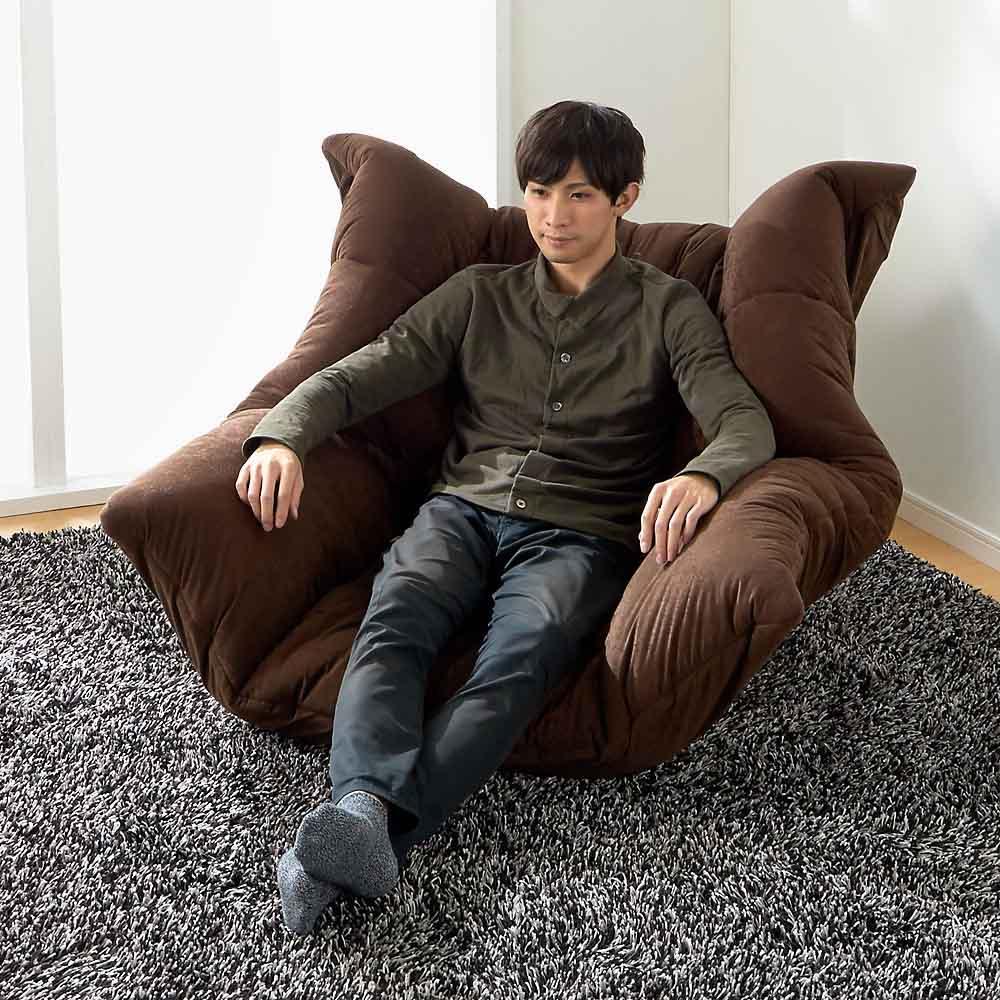 マルチリクライニング コンパクトソファ(座椅子) スタンダードタイプ ハイバックタイプ  背もたれが高いので首から頭まで支えてくれます。