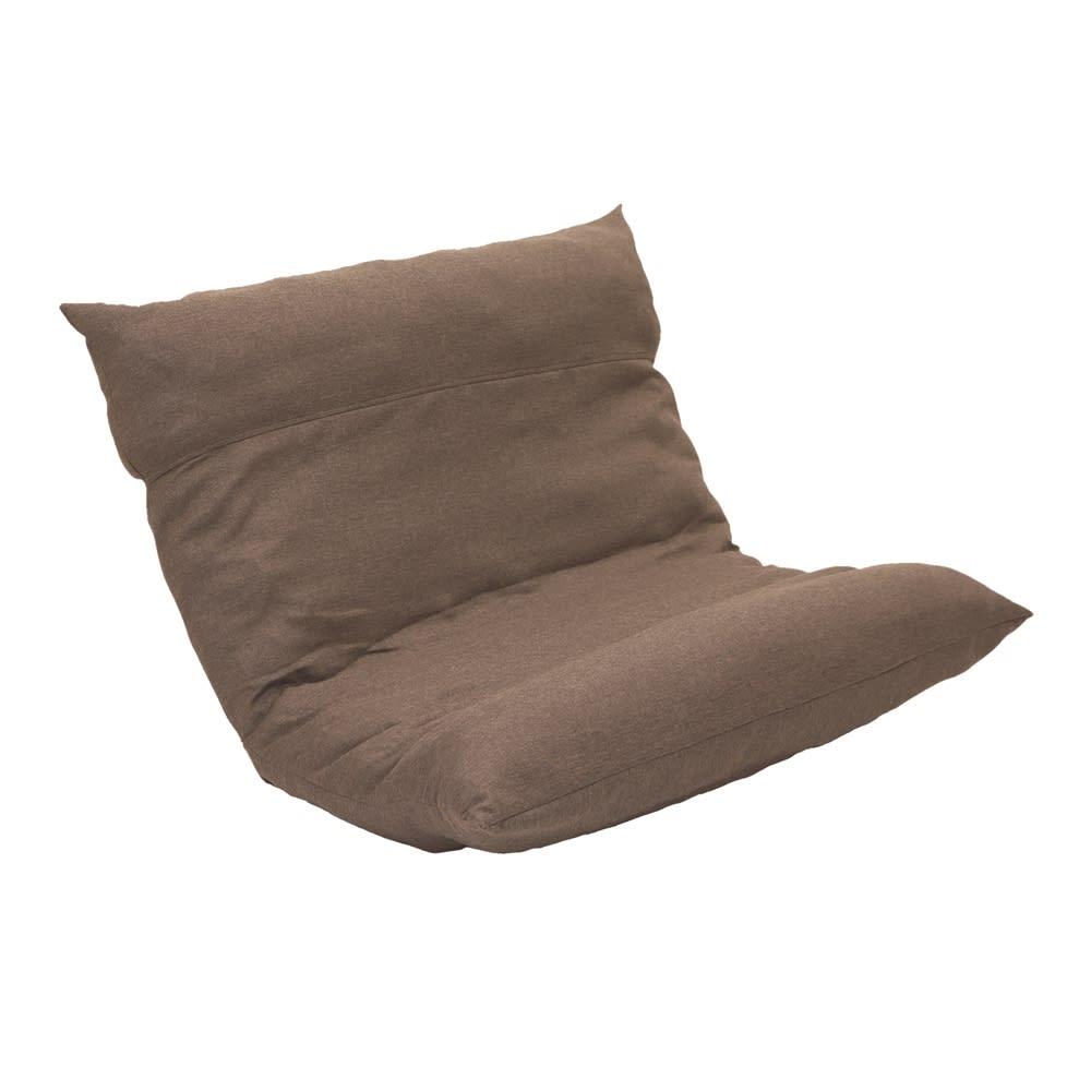 [国産]ふんわりハイバック座椅子ソファデラックスワイド (ア)ブラウン