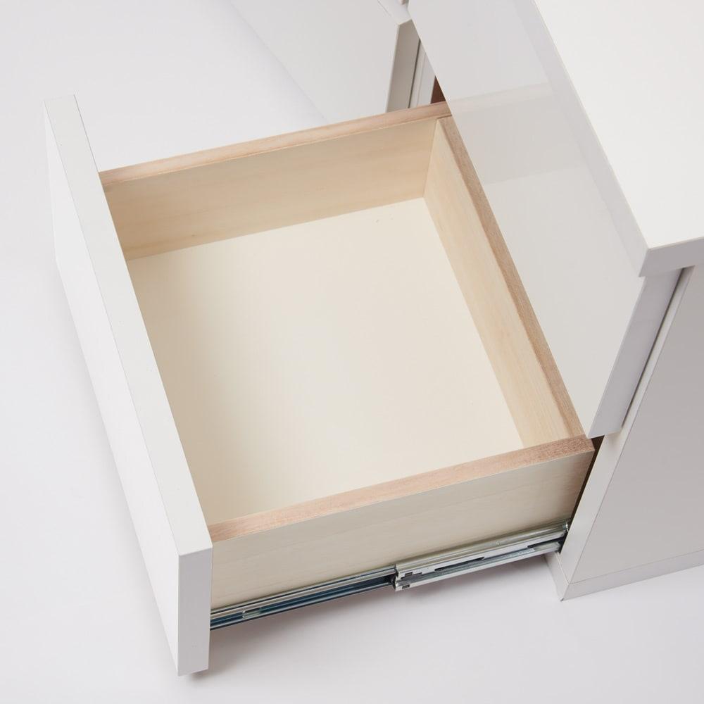 コーナーテレビ台壁面収納シリーズ 幅150cm TV台右壁設置用 引き出しは奥まで引き出せます。