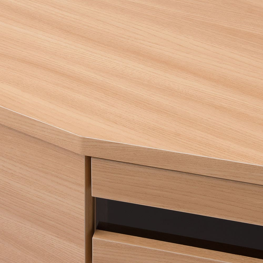 コーナーテレビ台壁面収納シリーズ 幅150cmTV台左壁設置用 (イ)ライトブラウン 木目調の北欧テイストの化粧シートです。 ※写真はテレビ台です。