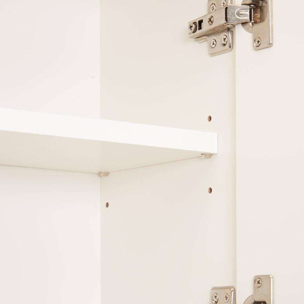コーナーテレビ台壁面収納シリーズ 幅150cmTV台左壁設置用 扉の中は可動棚仕様