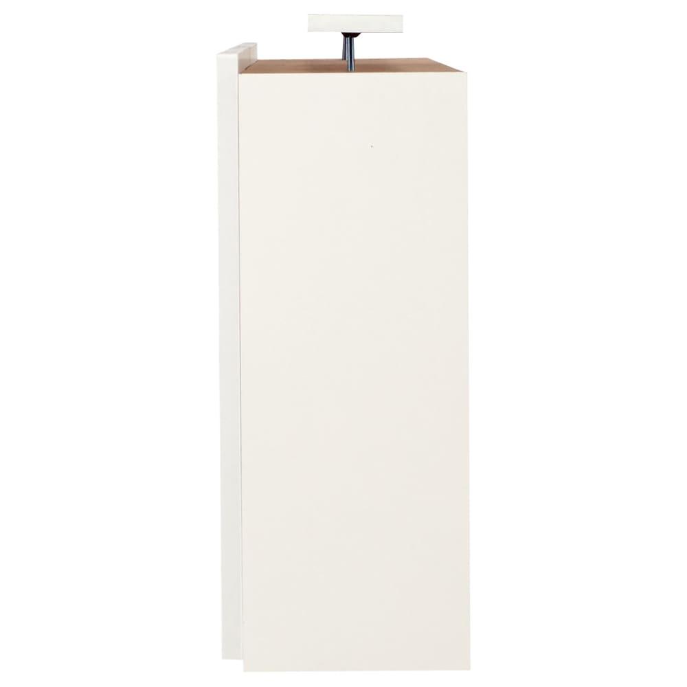 コーナーテレビ台壁面収納シリーズ オーダー対応突っ張り式上置き(1cm単位) 幅150cm・高さ51~78cm (ア)ホワイト