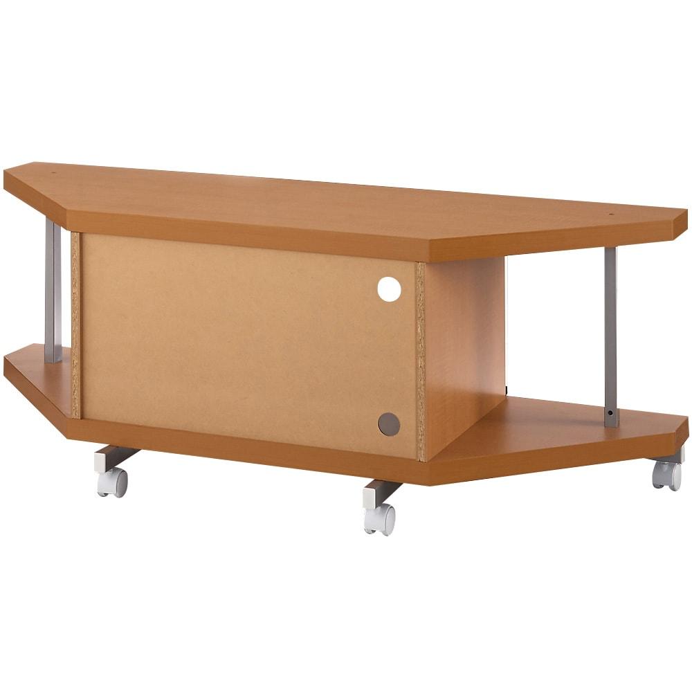 テレビ上の空間を有効活用できるシリーズ コーナー用テレビ台 幅120cm (背面)背板つき。背板は外すこともできます。