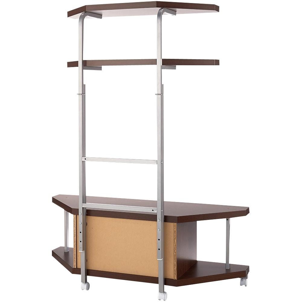 テレビ上の空間を有効活用できるシリーズ コーナー用テレビ台 幅120cm・棚2段 (背面)