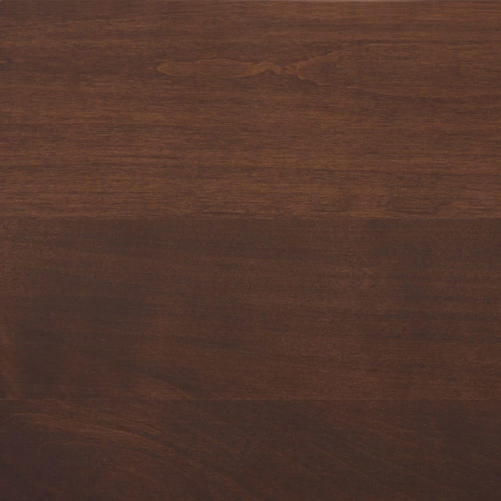 移動しやすいキャスター付きアルダー天然木 キャビネット収納・幅135.5cm (イ)ダークブラウン板見本