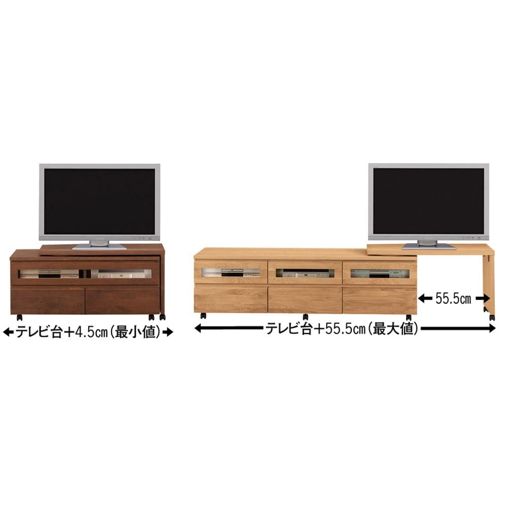 移動しやすいキャスター付きアルダー天然木 ネストボード・幅90cm 写真は右設置ですが、左にも設置できるので置く場所によって左右を決められます。
