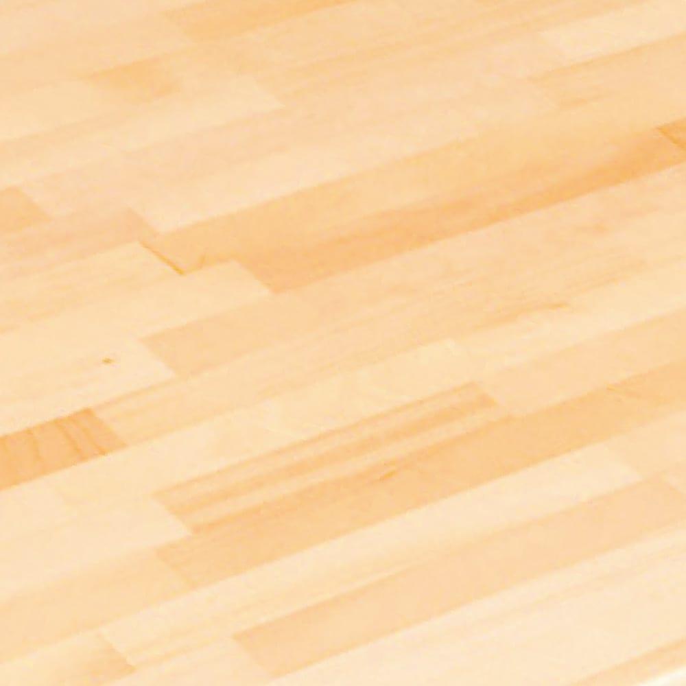 パイン天然木 薄型シンプルデスクシリーズ チェストワゴン (ア)ライトブラウン 素材アップ…パイン天然木の素材感を活かした天板。