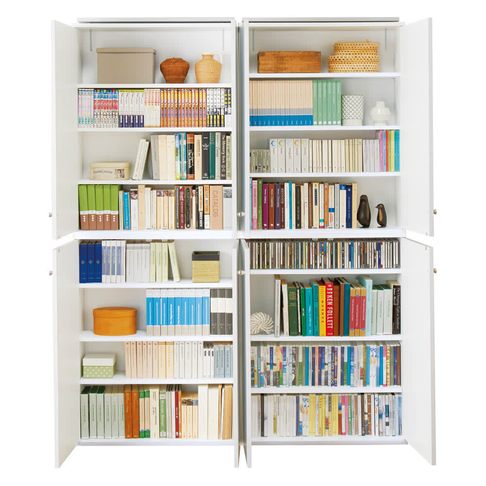 天井対応高さを選べるすっきり突っ張り書棚 奥行22cm・1列棚タイプ 本体高さ180cm(天井対応高さ183~193cm) 【奥行22cmタイプ】お手持ちの本やコミック、CDに合わせ可動棚板は1.5cmピッチで調整可能。