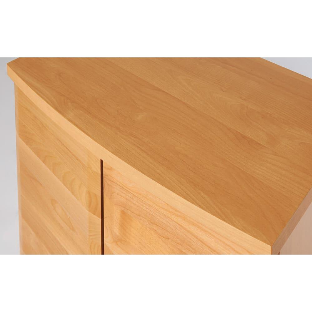 アルダー天然木 アールデザインブックシェルフ 幅120.5高さ90cm 優しく癒されるアールデザイン。