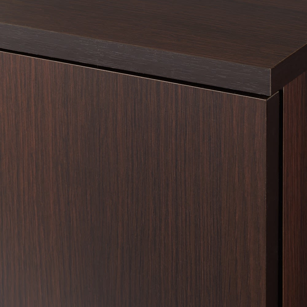 【完成品】リビングブックキャビネット 幅115.5奥行25高さ80cm (ア)ダークブラウン