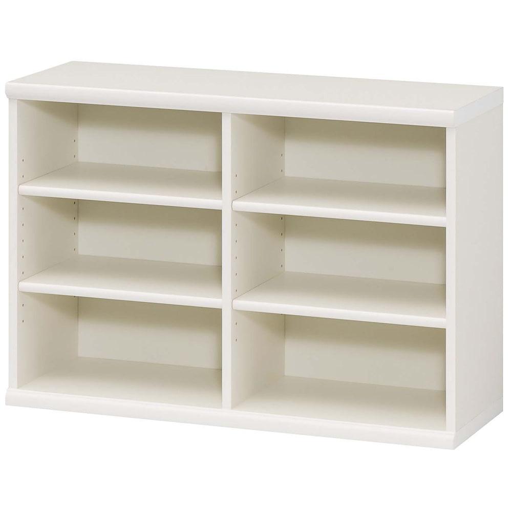 色とサイズが選べるオープン本棚 幅86.5cm高さ60cm (イ)ホワイト