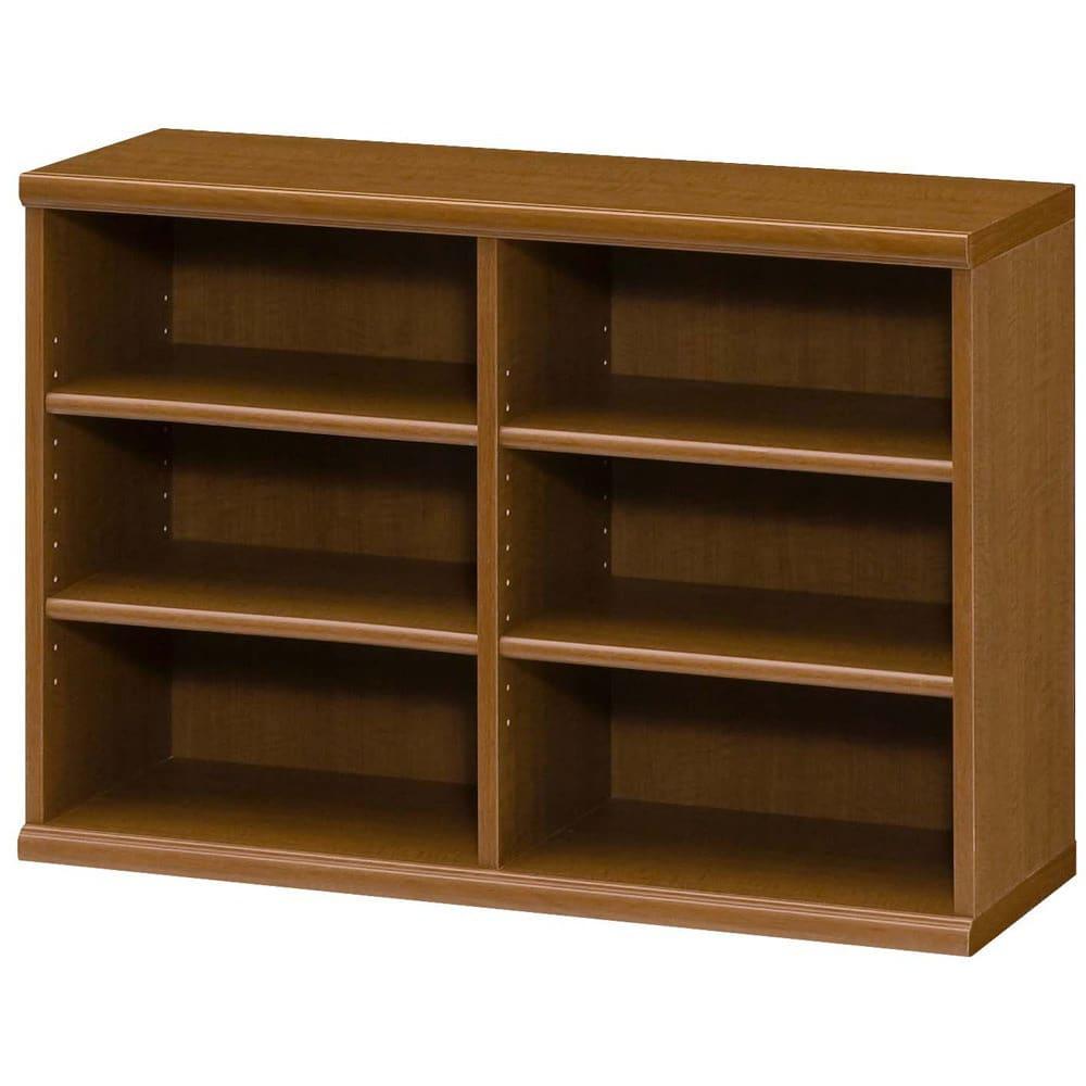 色とサイズが選べるオープン本棚 幅86.5cm高さ60cm (ウ)ブラウン
