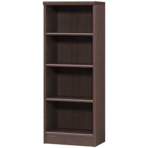 色とサイズが選べるオープン本棚 幅44.5cm高さ117cm (エ)ダークブラウン