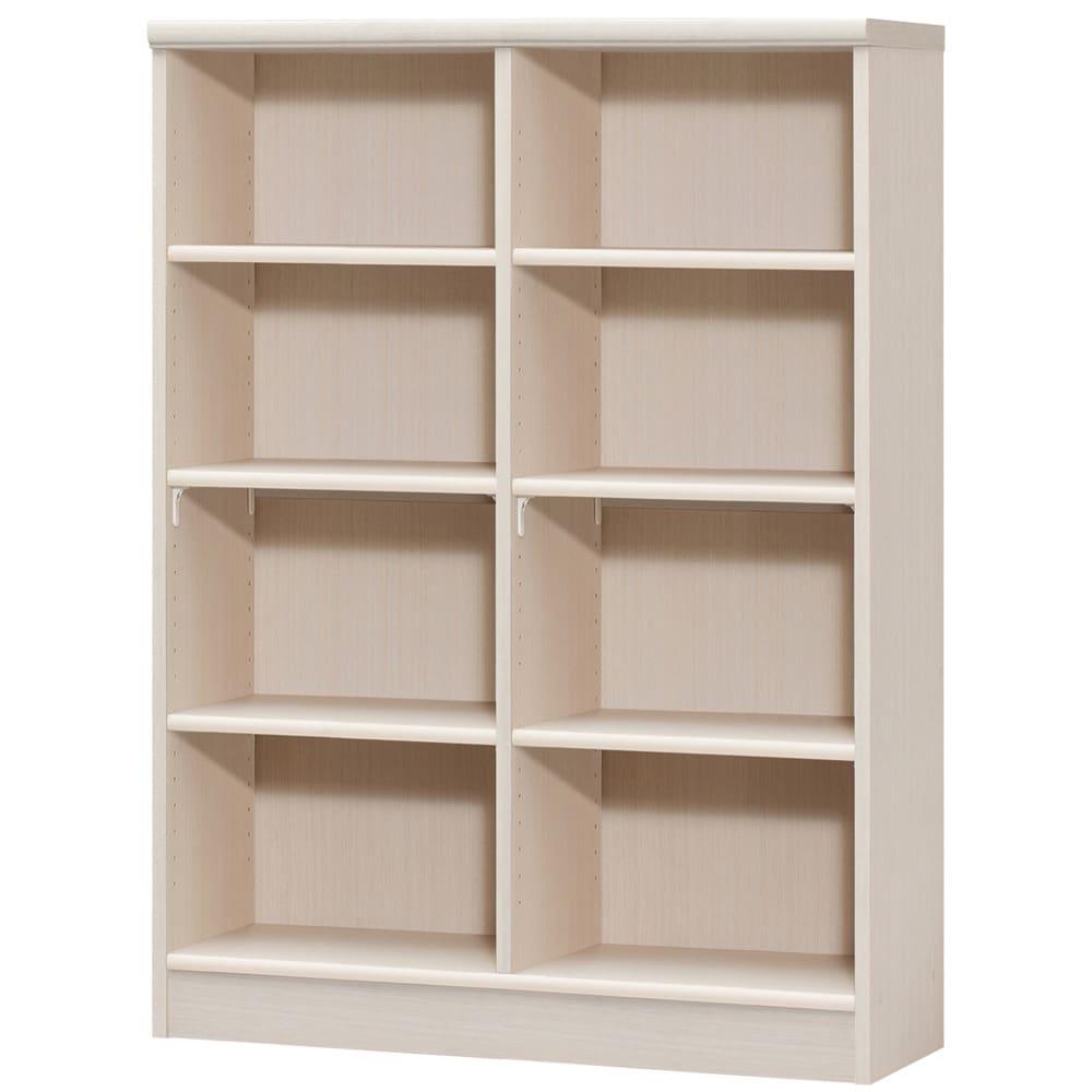 色とサイズが選べるオープン本棚 幅86.5cm高さ117cm (ア)ライトナチュラル