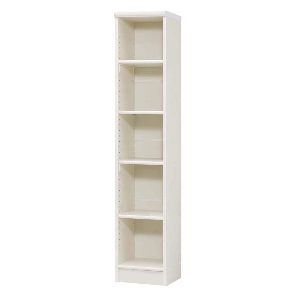 色とサイズが選べるオープン本棚 幅28.5cm高さ150cm 商品イメージ:(イ)ホワイト