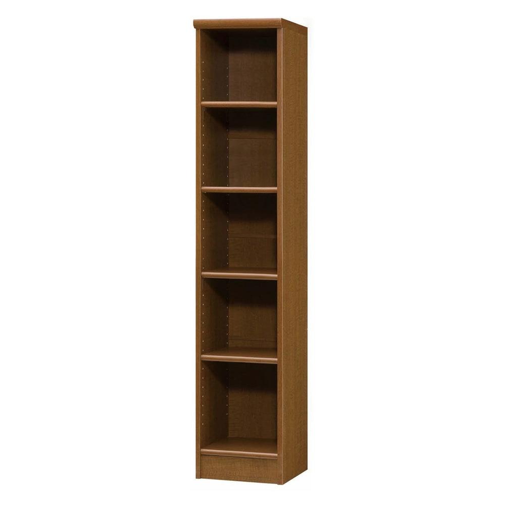 色とサイズが選べるオープン本棚 幅28.5cm高さ150cm 商品イメージ:(ウ)ブラウン