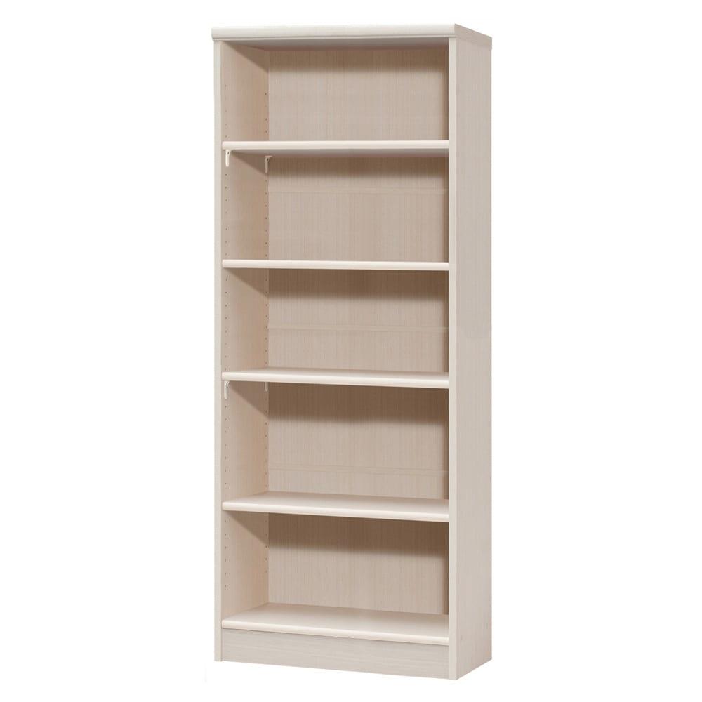 色とサイズが選べるオープン本棚 幅59.5cm高さ150cm 商品イメージ:(ア)ライトナチュラル