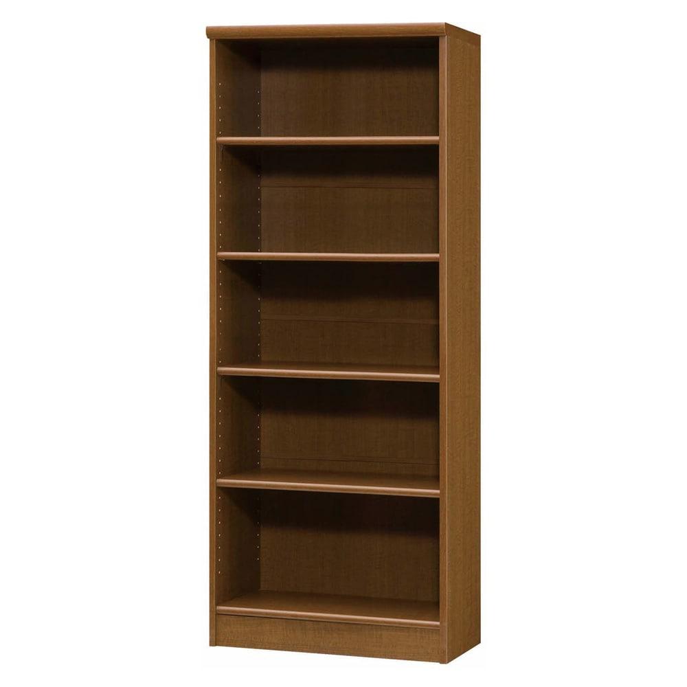 色とサイズが選べるオープン本棚 幅59.5cm高さ150cm 商品イメージ:(ウ)ブラウン