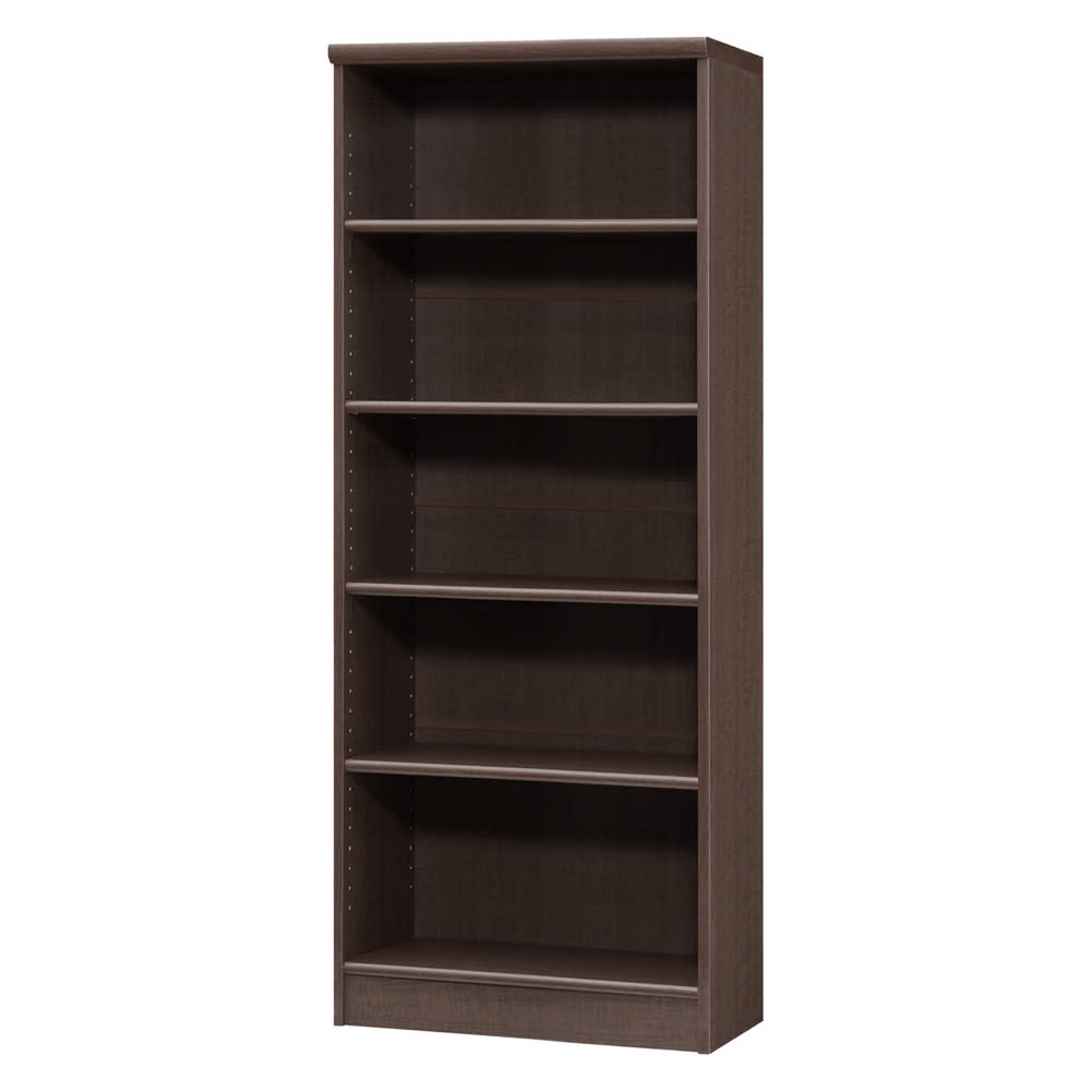 色とサイズが選べるオープン本棚 幅59.5cm高さ150cm 商品イメージ:(エ)ダークブラウン