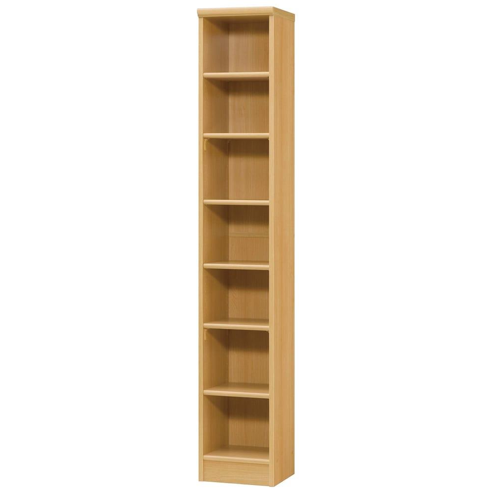 色とサイズが選べるオープン本棚 幅28.5cm高さ178cm (オ)ナチュラル