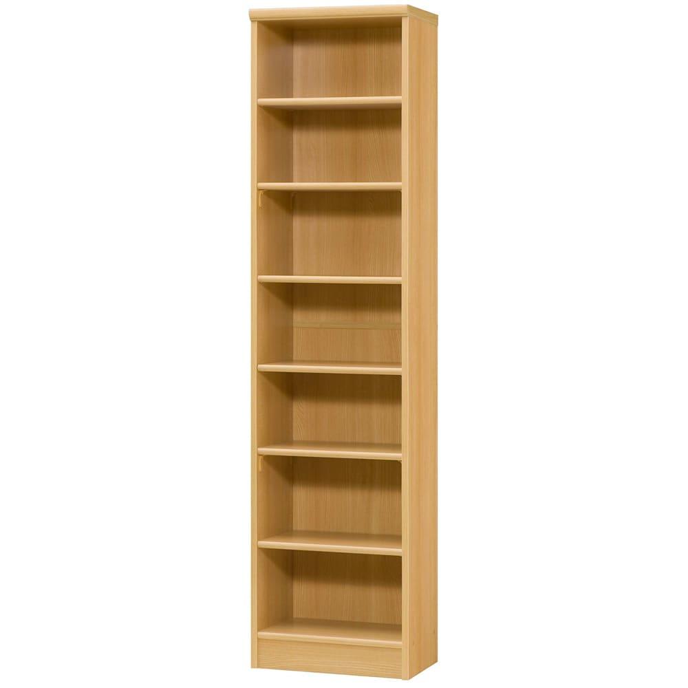 色とサイズが選べるオープン本棚 幅44.5cm高さ178cm (オ)ナチュラル