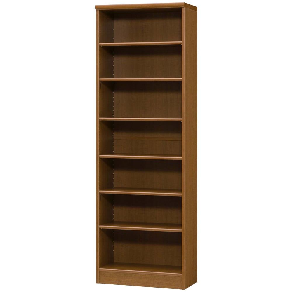色とサイズが選べるオープン本棚 幅59.5cm高さ178cm (ウ)ブラウン