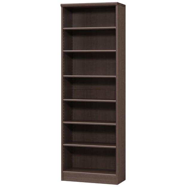 色とサイズが選べるオープン本棚 幅59.5cm高さ178cm (エ)ダークブラウン