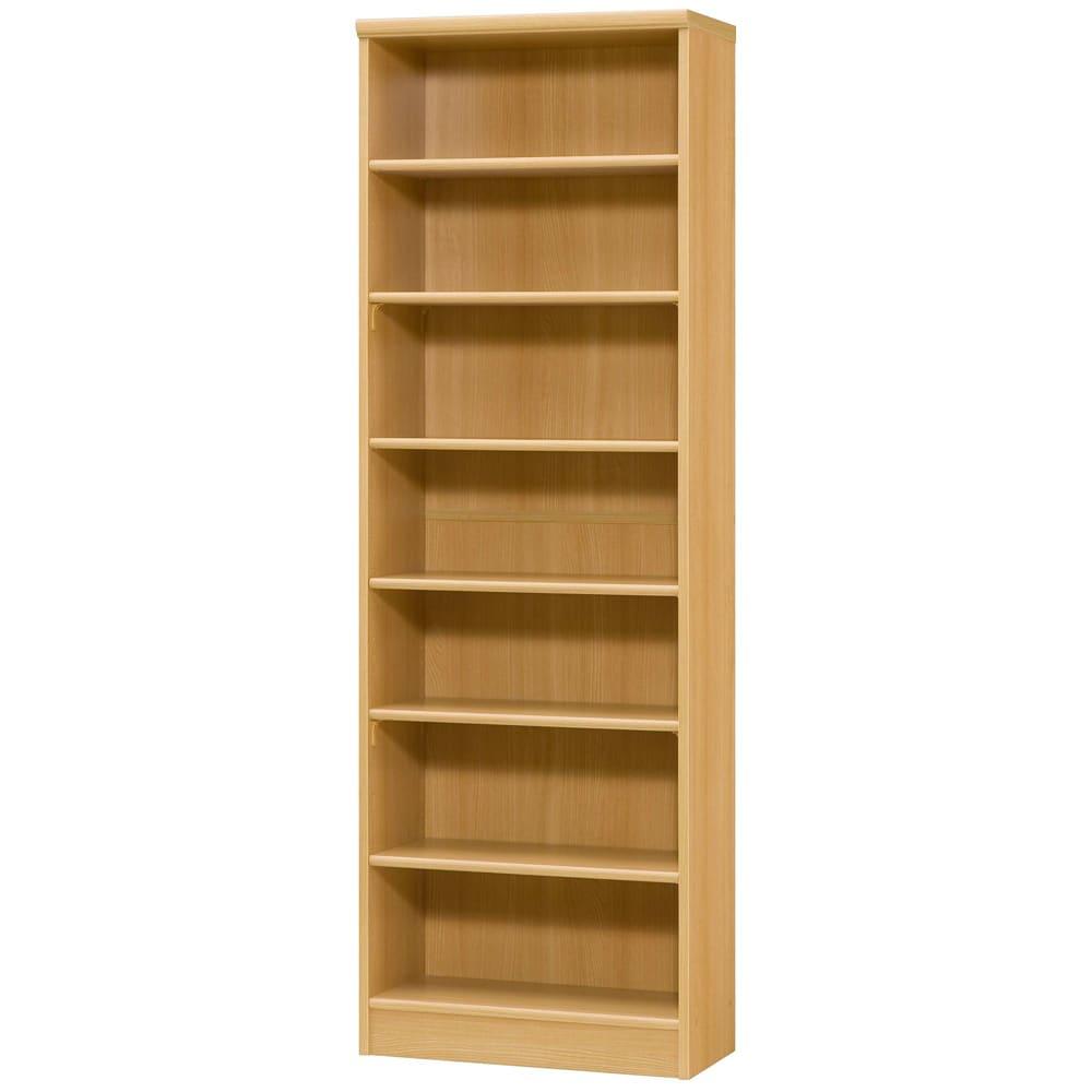 色とサイズが選べるオープン本棚 幅59.5cm高さ178cm (オ)ナチュラル