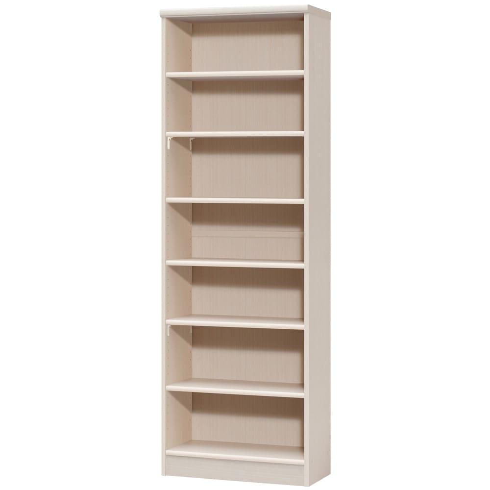 色とサイズが選べるオープン本棚 幅59.5cm高さ178cm (ア)ライトナチュラル