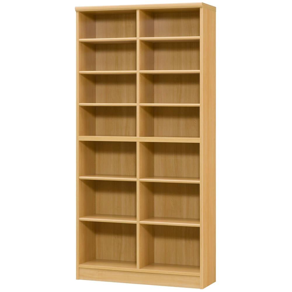 色とサイズが選べるオープン本棚 幅86.5cm高さ178cm (オ)ナチュラル