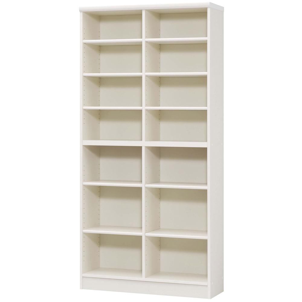 色とサイズが選べるオープン本棚 幅86.5cm高さ178cm (イ)ホワイト