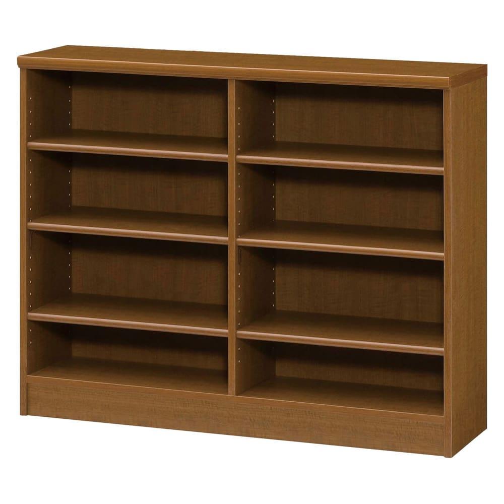 色とサイズが選べるオープン本棚 幅116.5cm高さ88.5cm (ウ)ブラウン
