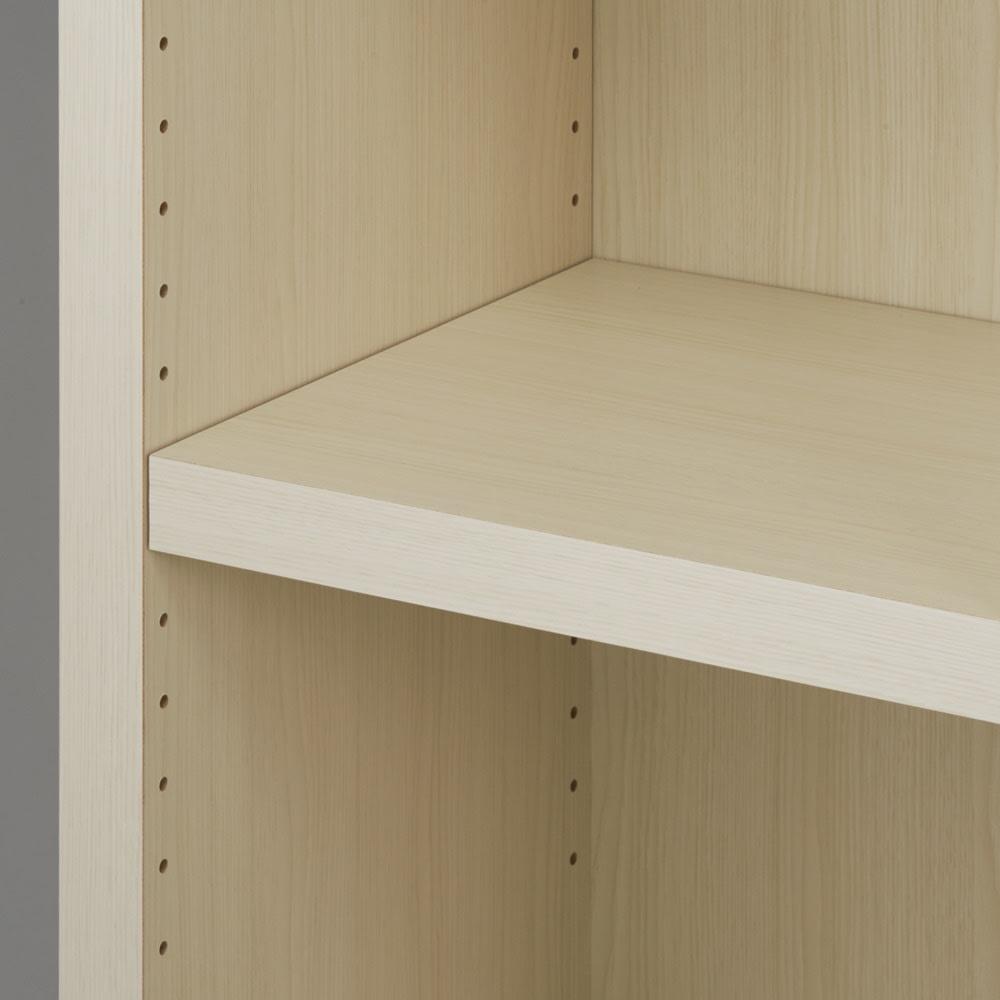 【完成品】重厚感のあるがっちり本棚シリーズ デスク 幅89 天井対応高さ236~246 奥行35cm 可動棚は3cm間隔で高さ調整が可能。