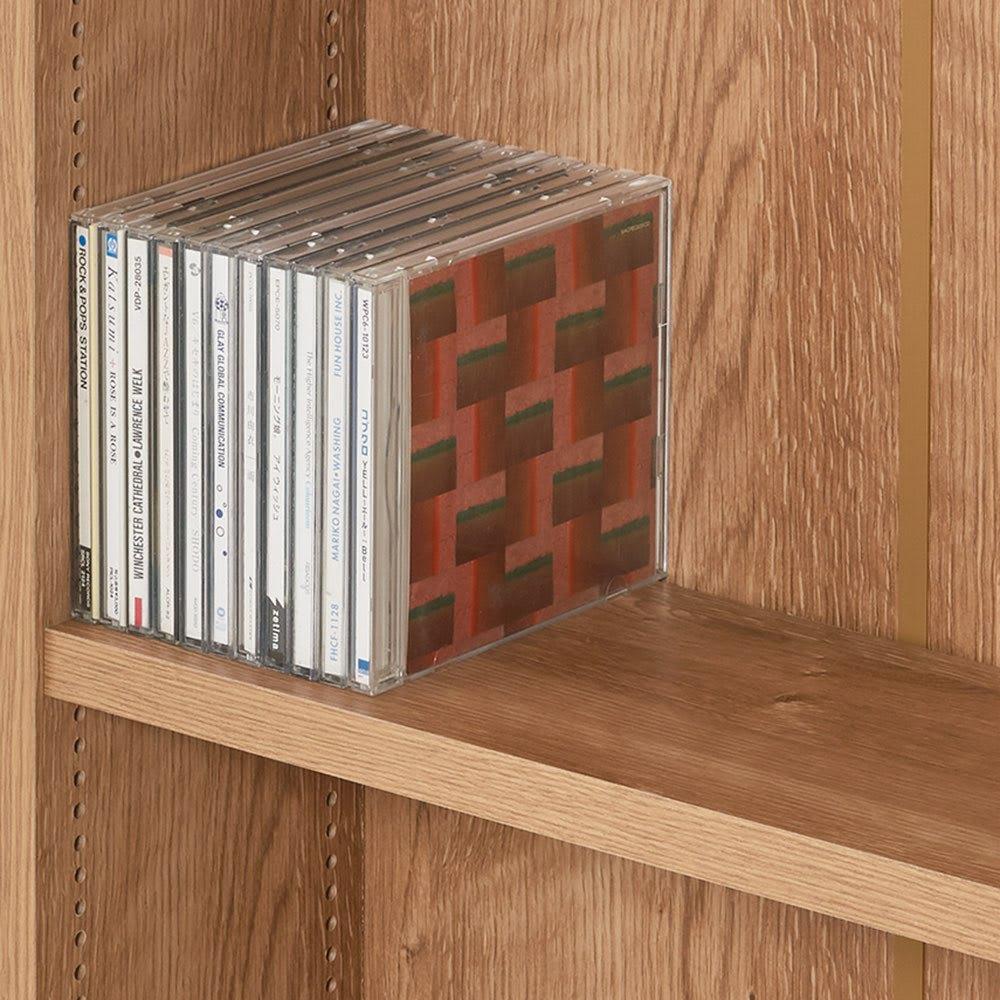 1台で壁いっぱいに本を収納!本好きのための壁面つっぱり本棚 幅オーダー(1cm単位) 本体幅30~45奥行17cm 奥行17cmはコミックやCD、文庫本に。内寸奥行15cm。