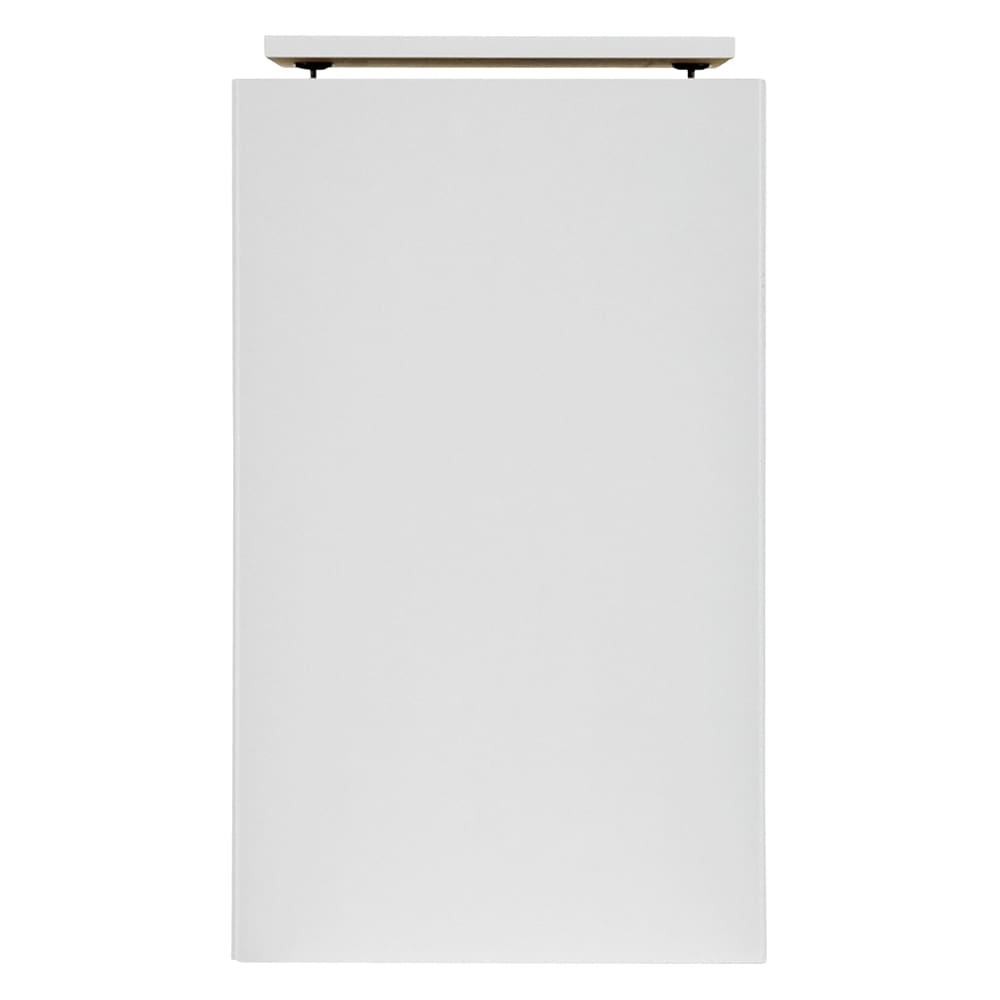 書斎壁面収納シリーズ オーダー対応突っ張り式上置き(1cm単位) 幅39.5cm・高さ26~59cm (ア)ホワイト(光沢) ※写真はオーダー高さ60~90cmタイプです。