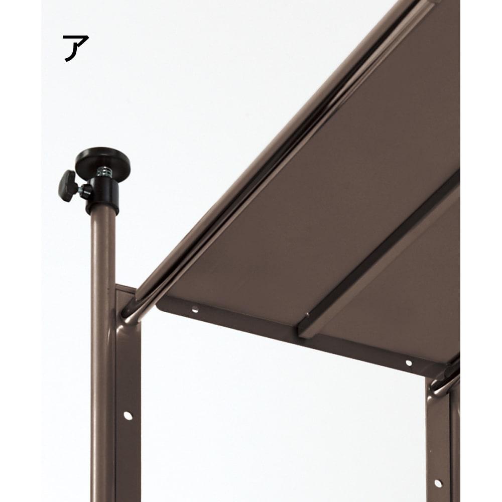 頑丈フレキシブル伸縮ラック 突っ張り式・幅83~125cm 棚板裏に補強バーを施した頑丈構造。