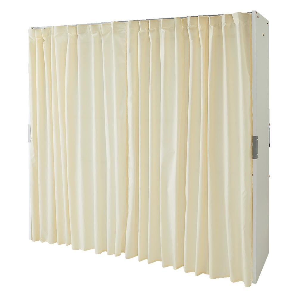 部屋に合わせてコーディネート カーテン取り替え自在ハンガー 棚なしタイプ 幅85~125cm 色見本(ア)ホワイト