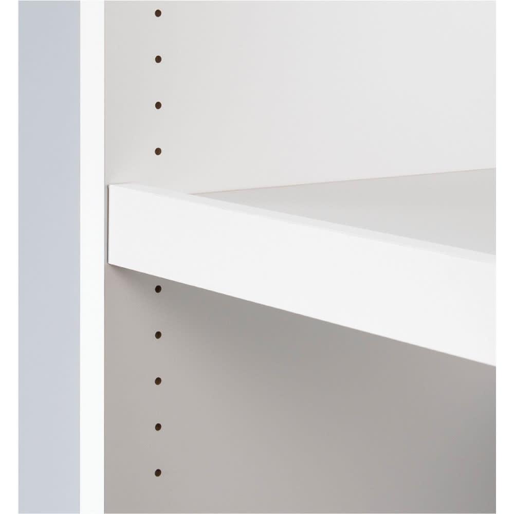 ウォークインクローゼット収納シリーズ 引き出し&棚タイプ 幅30cm・奥行55cm 可動棚板は3cm間隔で高さの調節可能。