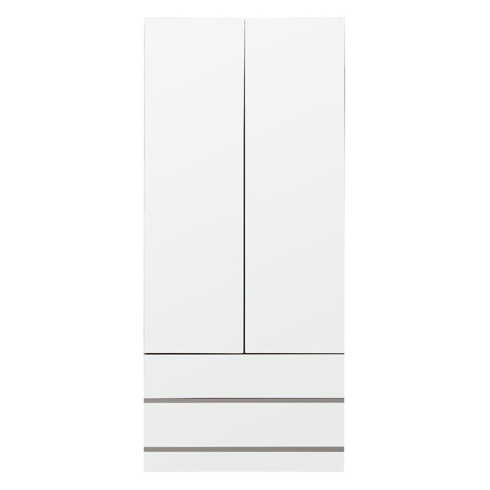 壁面間仕切りワードローブ ブレザー・幅80cm (イ)ホワイト