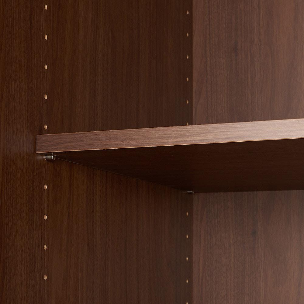 壁面間仕切りワードローブ 幅60cm用「オーダー上置き」・高さ26~90cm(1cm単位オーダー) 棚板はしっかりとダボでとめます。