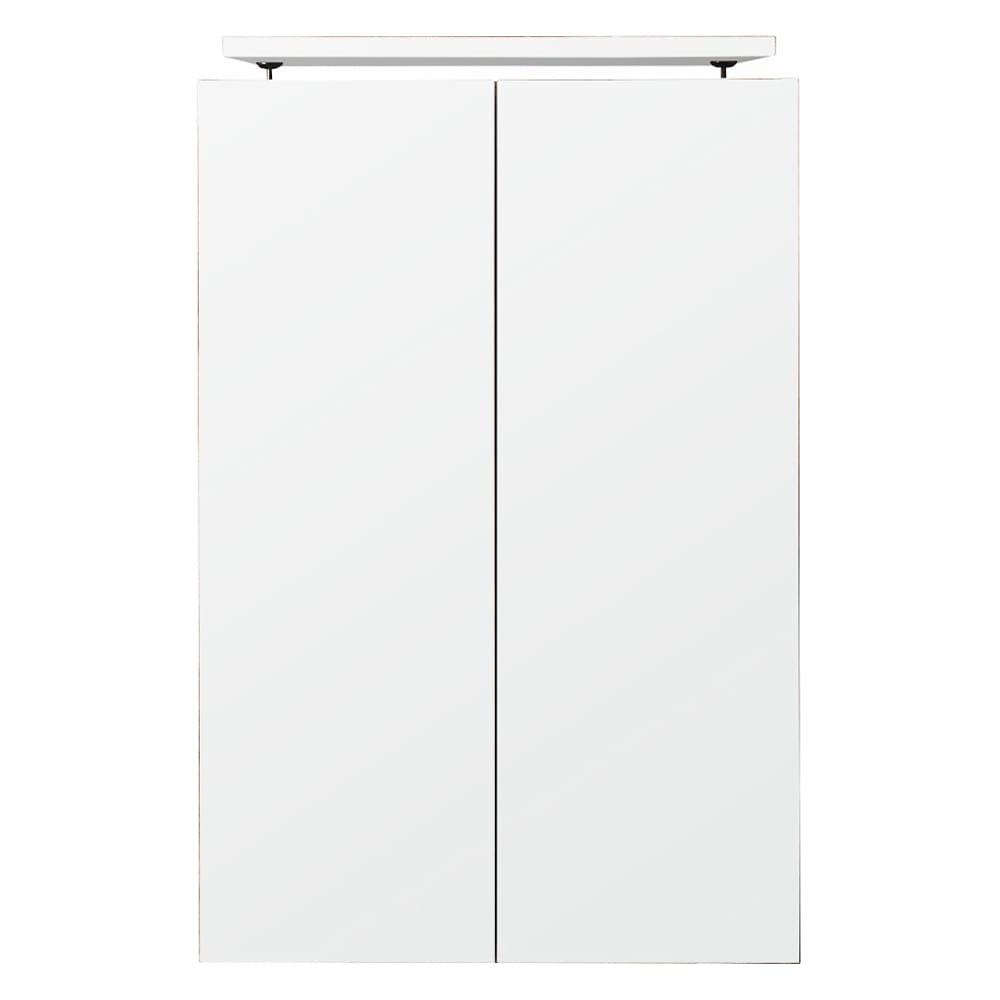 壁面間仕切りワードローブ 幅60cm用「オーダー上置き」・高さ26~90cm(1cm単位オーダー) (イ)ホワイト