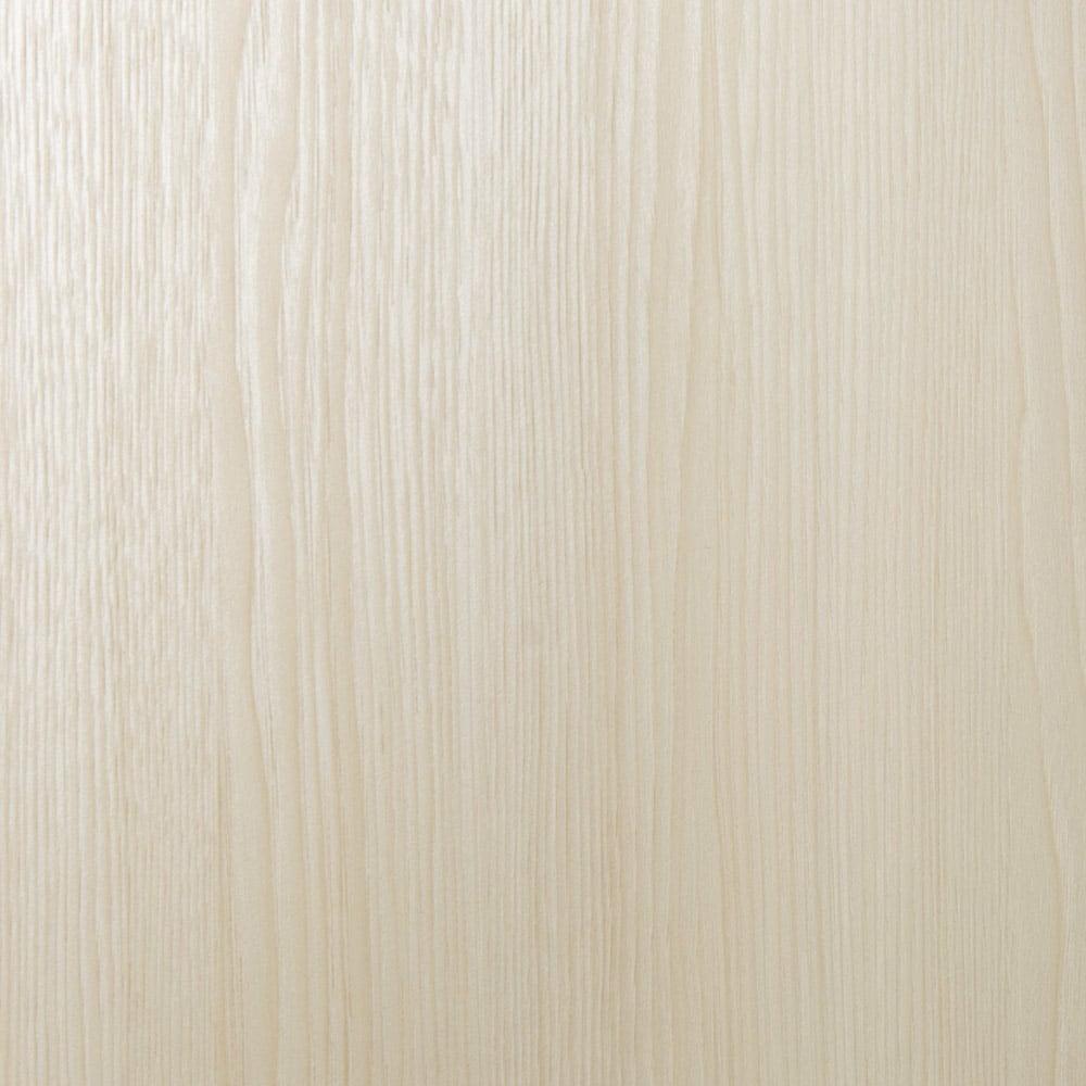 システム壁面ワードローブ ハンガー&引き出し・幅60cm (ア)ホワイト(木目調)