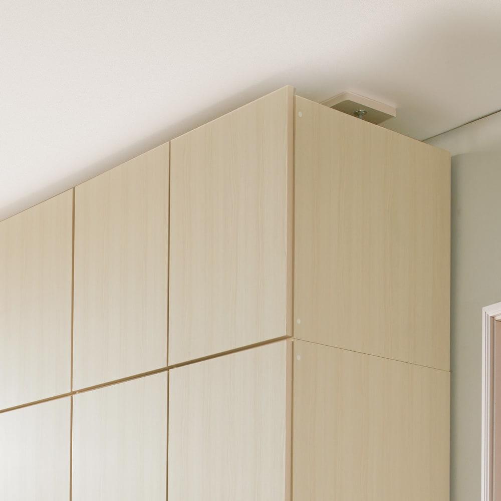 システム壁面ワードローブ 上置き・幅80高さ56cm (ア)ホワイト(木目調)