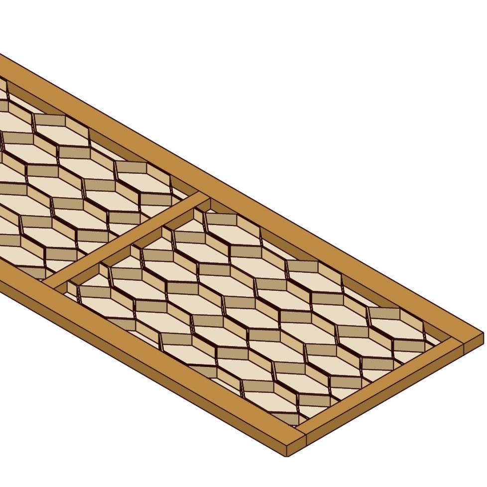 【日本製】前面光沢&引き出し内部化粧チェスト  幅120cm・5段 優れた強度のハニカム構造 天板仕様は強度が増すハニカム構造で耐荷重約30kg。空洞部分がないため、テレビなどを載せてご使用いただけます。