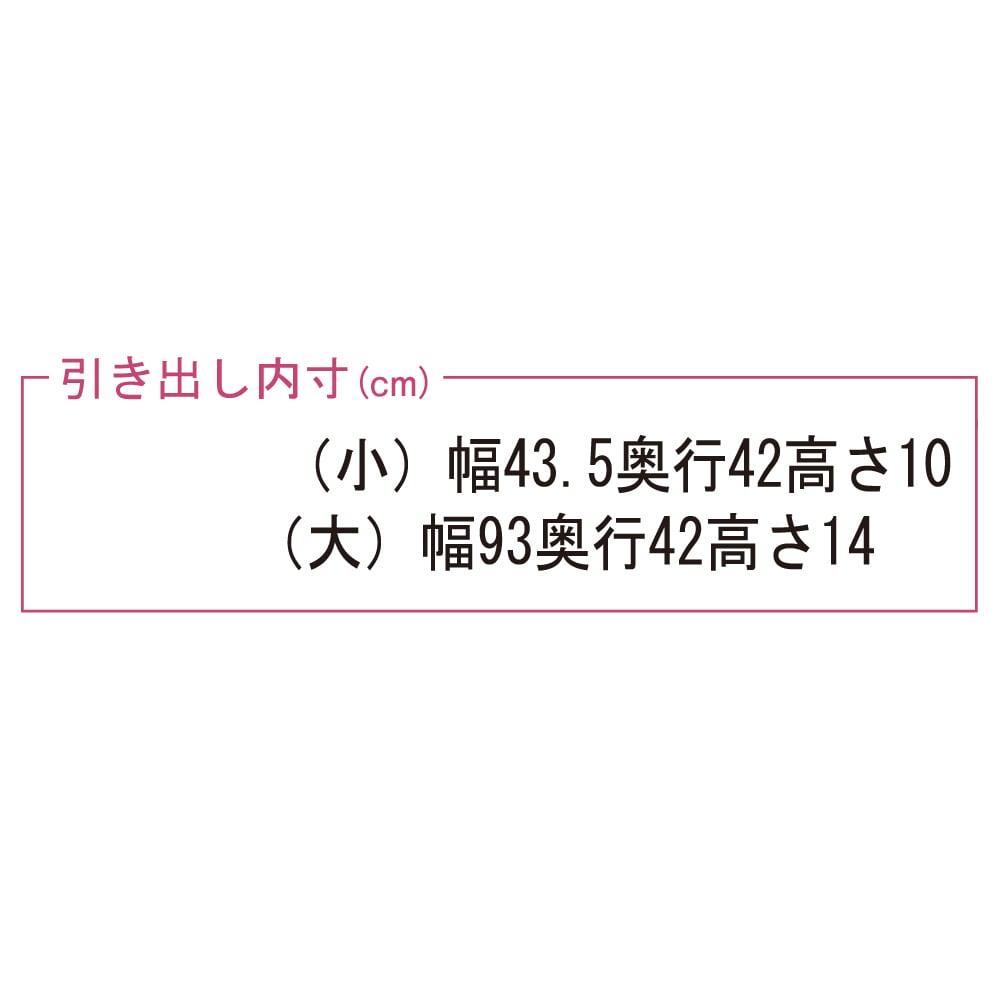 【日本製】奥行50cm隠しキャスター付きクローゼットチェスト 幅100cm・4段 引き出し内寸※奥行は43.5が正しいサイズになります