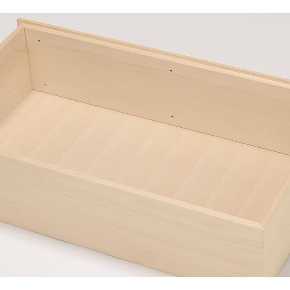 【日本製】北欧風総桐チェスト 幅75cm・7段(8杯) 【引き出し仕様】 すべての引き出しは箱組で、前板ビス止めは収容空間内に出っ張りません