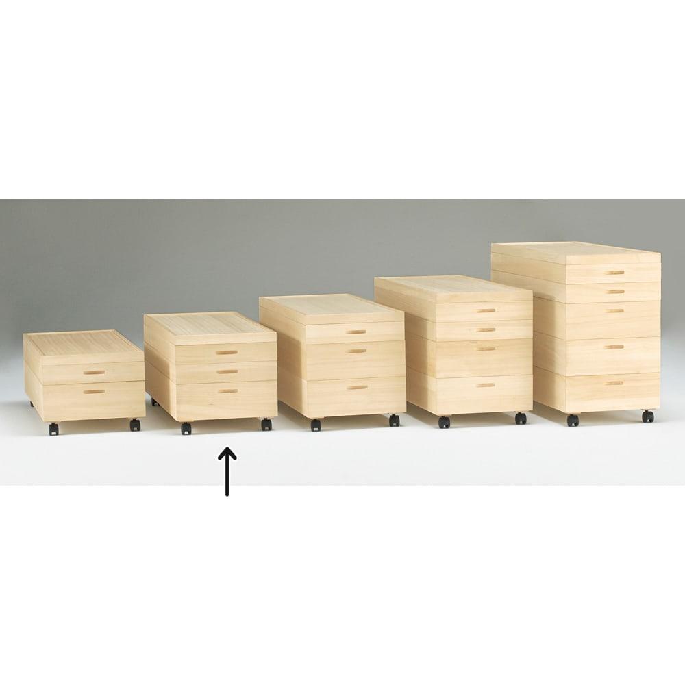 【ローチェスト】総桐衣装ケース 幅91cmタイプ 3段(浅2深1) 浅・深の組み合わせは分類収納に便利!